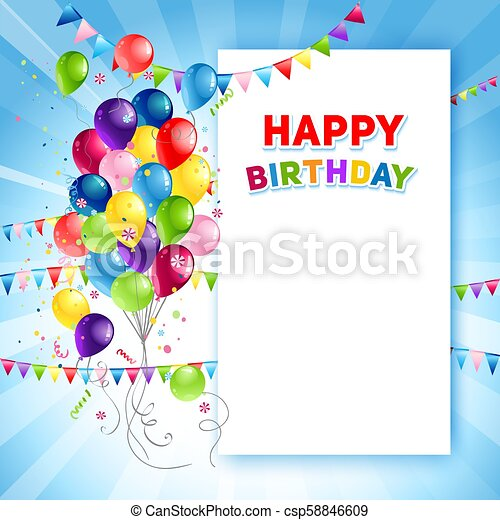 festive happy birthday card template holiday template for design