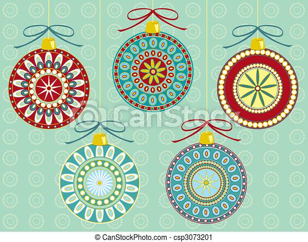 Festive Ornaments - csp3073201