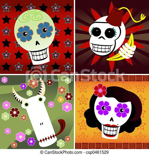 Festive Skulls - csp0461529