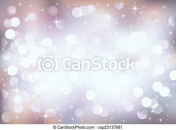 Luces festivas pastel, fondo vectorial. - csp23137681