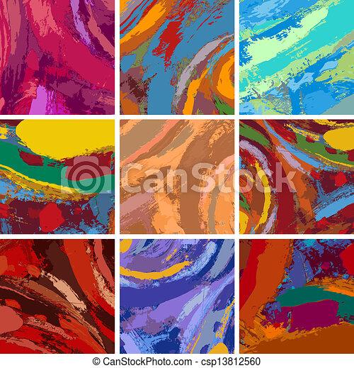 festmény, elvont, díszlet tervezés, háttér - csp13812560