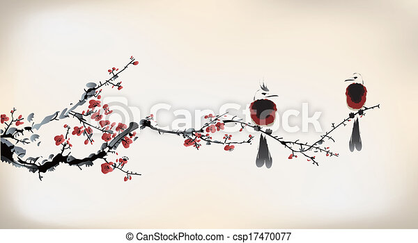 festmény, madár - csp17470077