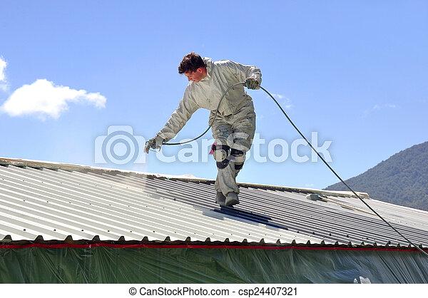 festmény, tető - csp24407321