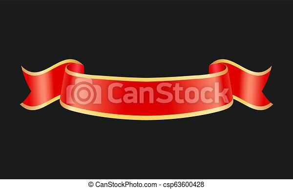 Glossy cinta rizada heraldic o símbolo fetal - csp63600428