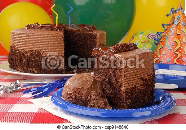 fetta torta, compleanno - csp9148840