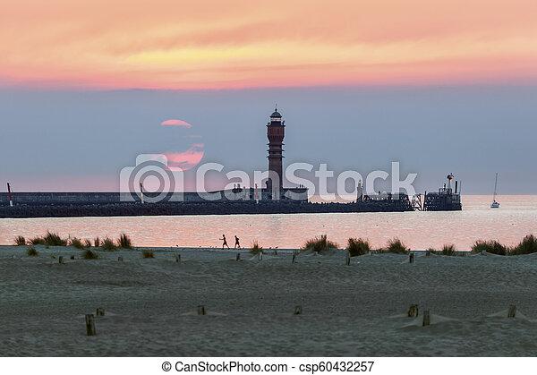 Feu de Saint Pol Lighthouse in Dunkirk - csp60432257