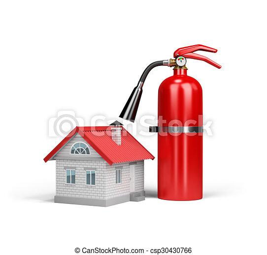 Versicherung gegen Feuer - csp30430766