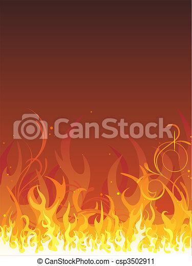 Feuer - Flammen - csp3502911