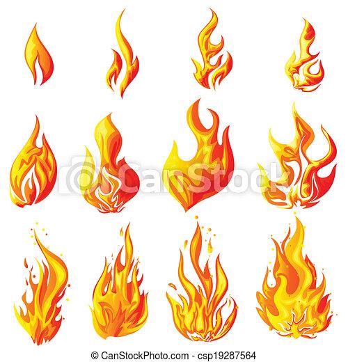 Feuerflamme - csp19287564
