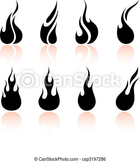 feuer, flamme - csp3197286
