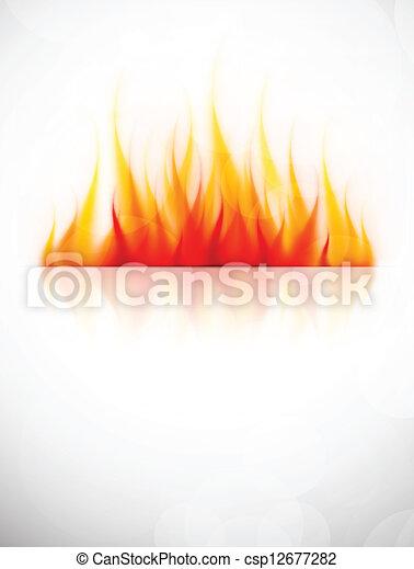 feuer, hintergrund - csp12677282