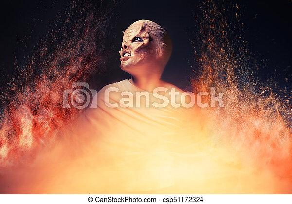 Teufel aus der Hölle. Feuerinferno. - csp51172324