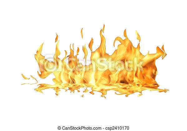 feuer, weißes, flamme - csp2410170
