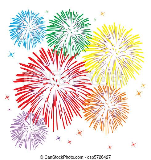 Ein buntes Feuerwerk - csp5726427