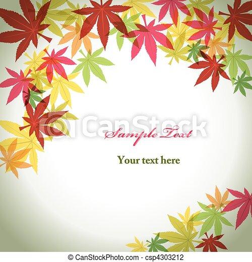 feuillage automne, fond - csp4303212