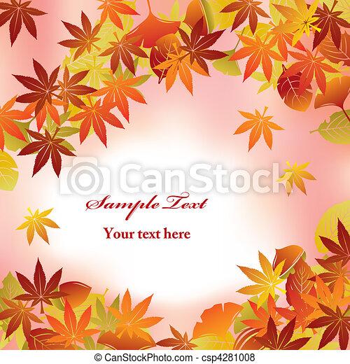 feuillage, fond, automne - csp4281008