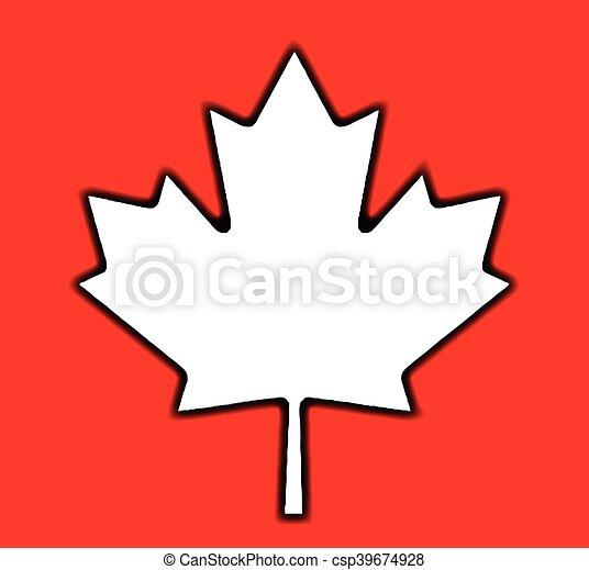 feuille, érable, canadien - csp39674928