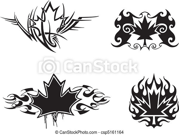 feuille rable flammes tatouage feuille canadien. Black Bedroom Furniture Sets. Home Design Ideas