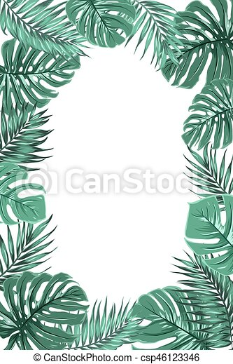 feuille cadre monstera exotique paume jungle portrait vecteur eps rechercher des. Black Bedroom Furniture Sets. Home Design Ideas