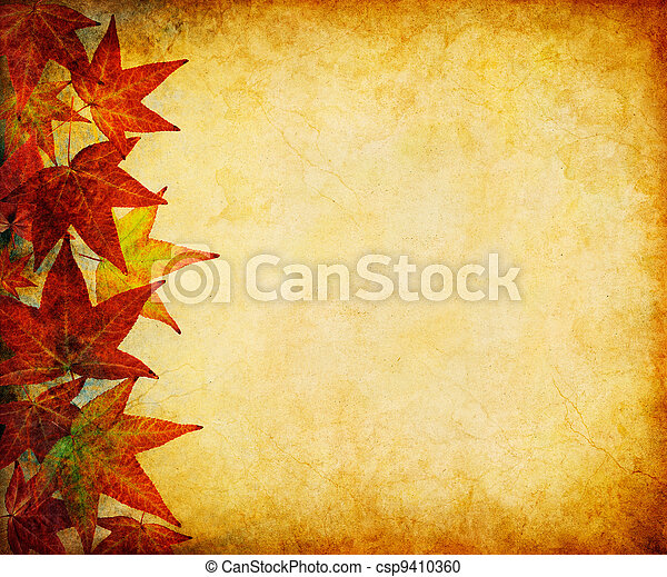 feuille, marge, automne - csp9410360