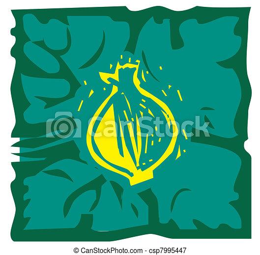 feuille, oignon - csp7995447