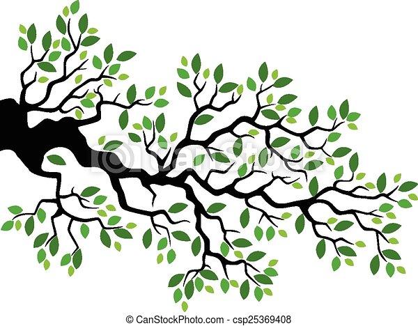 Feuille verte branche arbre dessin anim feuille arbre - Branche arbre dessin ...