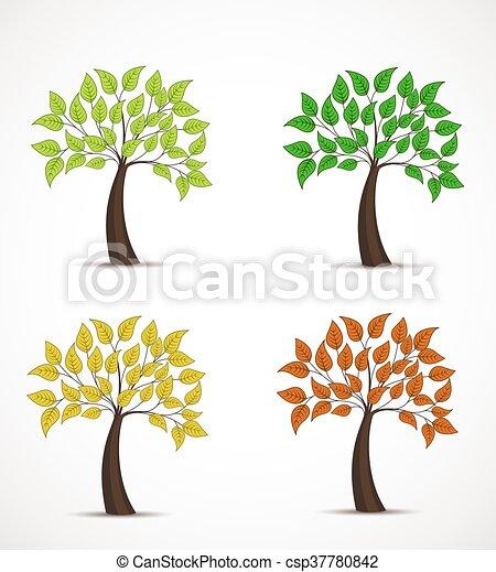 feuilles, arbre - csp37780842