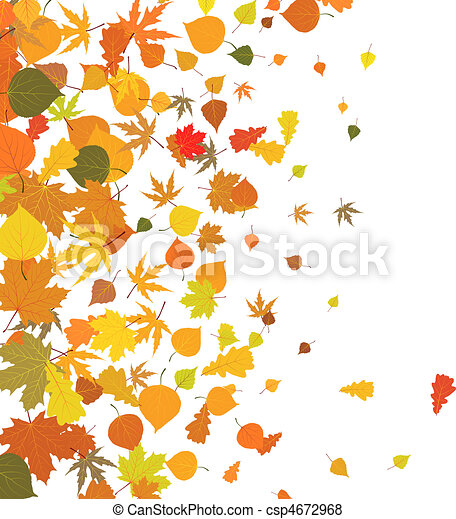feuilles automne, baissé, fond - csp4672968