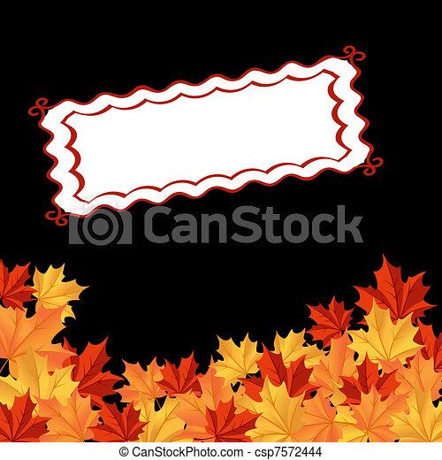 feuilles automne, fond - csp7572444