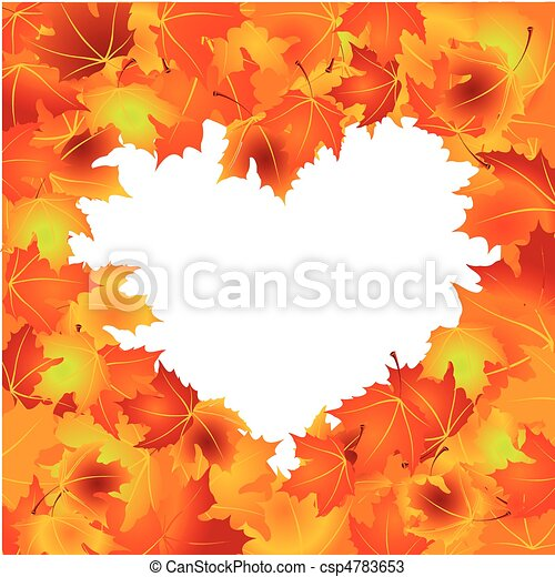 feuilles automne, fond - csp4783653