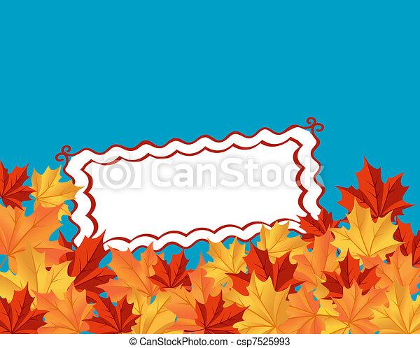 feuilles automne, fond - csp7525993