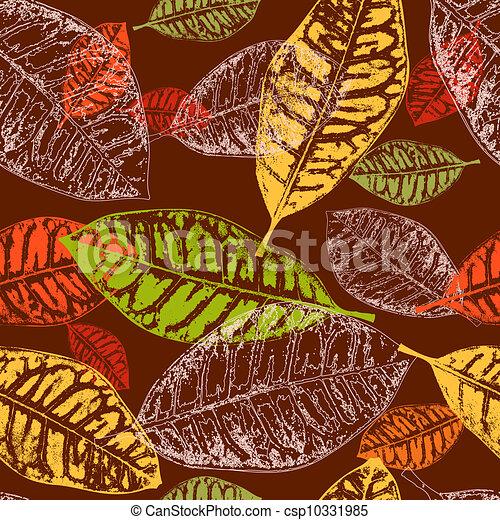 feuilles automne, seamless, fond - csp10331985