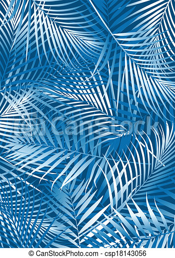 feuilles bleu, paume - csp18143056