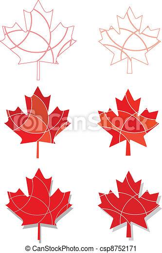 feuilles, emblème, érable, canadien - csp8752171