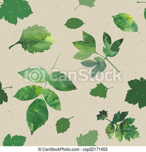 feuilles, ensemble - csp22171453