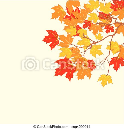 feuilles, fond, automne - csp4290914