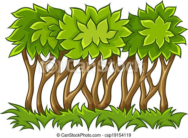 feuilles, herbe, vert, buisson - csp19154119