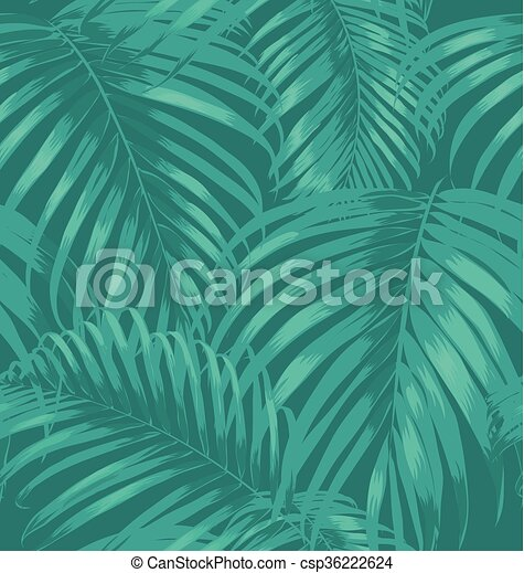 feuilles, paume - csp36222624