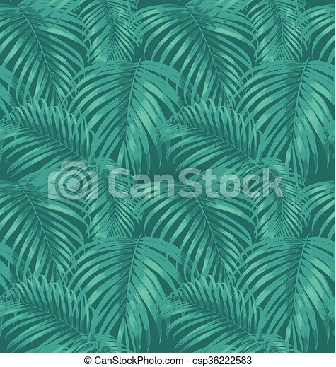 feuilles, paume - csp36222583