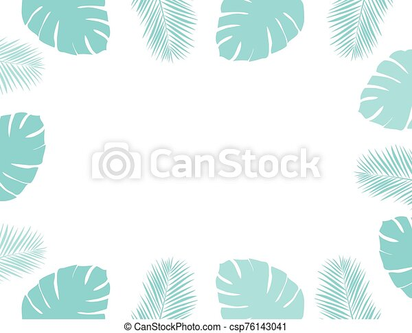 feuilles, paume - csp76143041