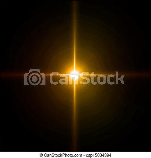 feux artifice, légère concentration, flare., lentille, vecteur - csp15034394