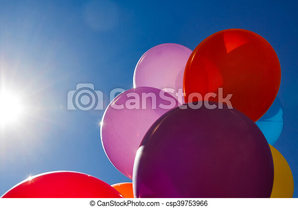 Few colorful baloons - csp39753966