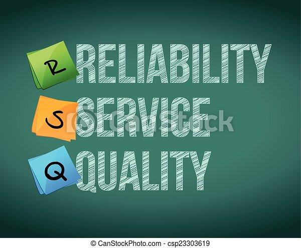 fiabilidade, qualidade, serviço - csp23303619