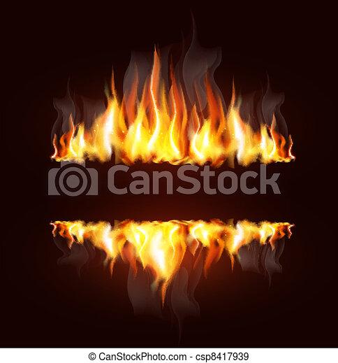 fiamma, fondo, urente - csp8417939
