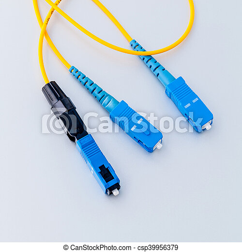 Fiber Optics connectors symbolic photo for fast internet connection