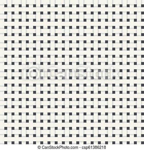 Un patrón de fibra inmaculada con sombras. Patrón geométrico blanco sin costura. Trasfondo abstracto. Ilustración de vectores - csp61386218