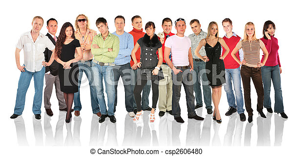 ficar, grupo, pessoas - csp2606480
