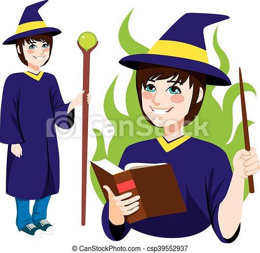 ficar, wizard, jovem - csp39552937
