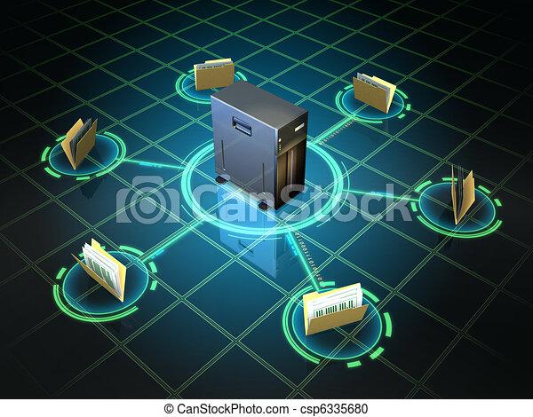 fichier, serveur - csp6335680