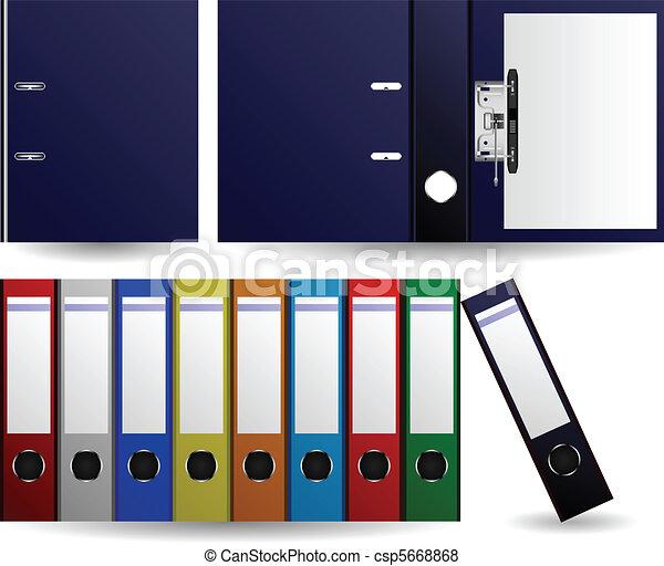 fichiers, dossiers, vecteur - csp5668868